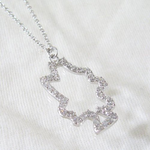 Sterling Silver CZ Christmas Tree Necklace