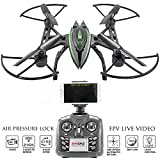 KiiToys Camera Drone with Live Video - Predator FPV VR Quadcopter, Virtual Reality First Person View Flight in Real Time, Air Pressure Sensor Attitude Lock