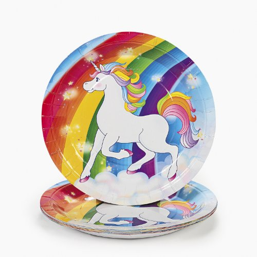 Unicorn Rainbow Dinner Plates (8 pc) - 1