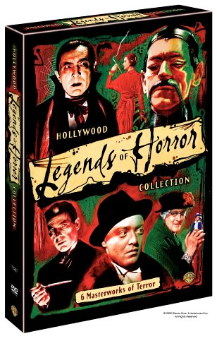 Cover art for  Hollywood's Legends of Horror Collection (Doctor X / The Return of Doctor X / Mad Love / The Devil Doll / Mark of the Vampire / The Mask of Fu Manchu)
