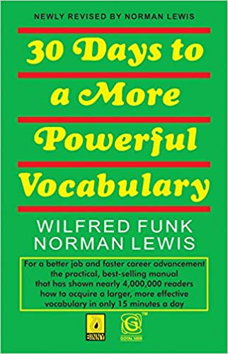 30 Days to More Powerful Vocabulary Paperback Norman Lewis