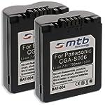 2x Batteries CGA/CGR-S006, BMA7 pour...