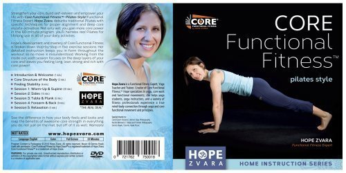 Core Functional Fitness Pilates Style with Hope Zvara