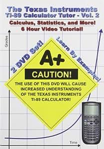 Texas Instruments TI-89 Calculator Tutor - Volume 2