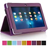 Ushoppingcart PU Leather Folio Stand Protection Carrying Case Cover for A13 Q88,Y88,Zeepad,Chromo,FastTouch,Alldaymall,Noria Jr,Noria T2, Matricom Tab Nero, Tagital with Dual Camera Tablet PC (Purple)