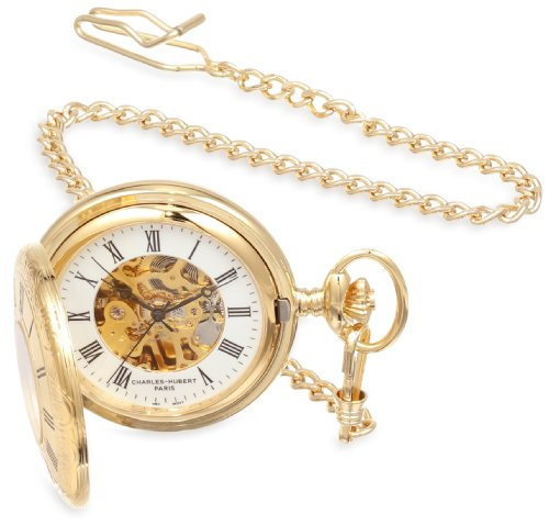 Charles-Hubert, Paris Gold-Plated Mechanical Pocket Watch