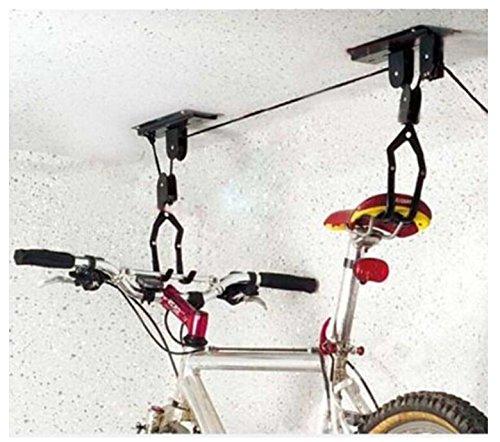 [해외]된 TruePower 천장 장착형 자전거 리프트 호이스트 차고 산악 자전거 호이스트 100 파운드 용량/TruePower Ceiling-Mounted Bike Lift Hoist Garage Mountain Bicyc