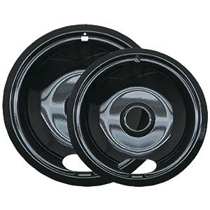 Range%20Kleen Range Kleen P12782Xcd5 Style A Black Porcelain Drip Pans, 2-Pack
