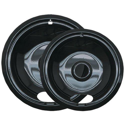 Range Kleen P12782Xcd5 Black Porcelain Drip Pans, 2 Pk (Style A)