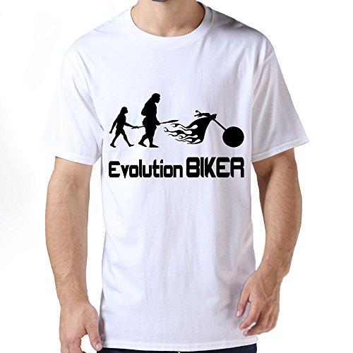 Zhitian Men'S Biker T-Shirt - Xxl White