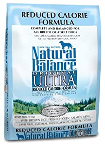 Natural Balance Dry Dog Food, Reduced Calorie Formula, 28 Pound Bag