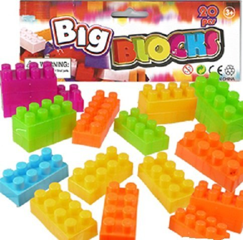 Toy Interlocking Building Blocks Set - 40 piece Medium Size Bloks for Kids - 1