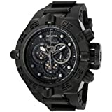 """Invicta Mens 6582 """"Subaqua Noma IV"""" Stainless Steel and Black Polyurethane Watch"""