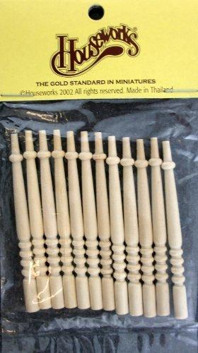 Puppen Haus Miniatur Set Treppen Spindeln 019 - 67mm Hoch - 5mm Breit