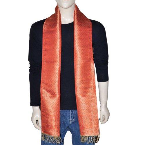 Men Fashion Handmade Neck Scarf Accessory Silk 10x78 inches (Multi-Colored)