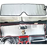 Sunshade for Jeep Wrangler 2007 2008 2009 2010 2011 2012 2013 2014 2015 2016 Heat Shield Windshield Custom-fit Sunshade
