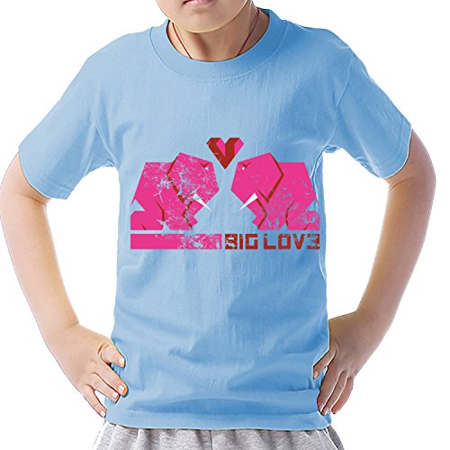 Unbranded products elephant big love short sleeve casual T shirt XS blue