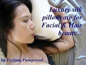 White Luxury 100% Silk Pillowcase for Hair & Facial Beauty Queen / Standard