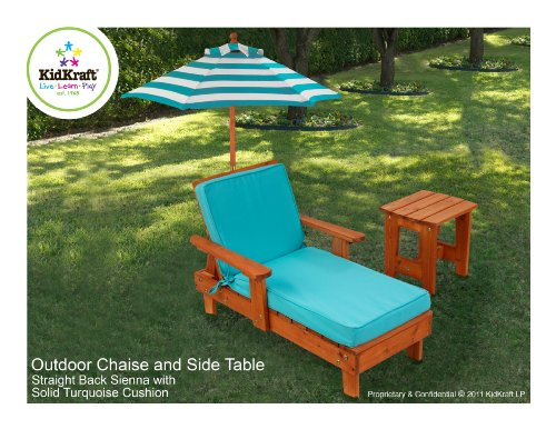 kidkraft outdoor chaise and side table patio shop online. Black Bedroom Furniture Sets. Home Design Ideas