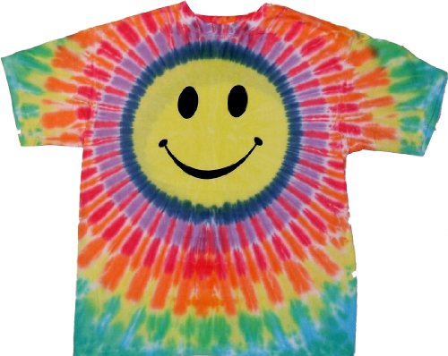 Rainbow Smiley Face Tie Dye T-Shirt