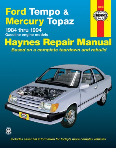 Ford Tempo And Mercury Topaz 1984-1994 (Haynes Manuals) front-402186