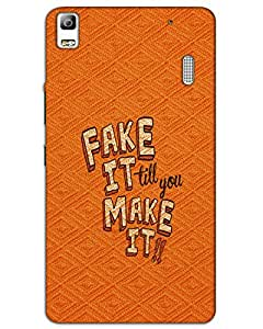 Hugo Lenovo A7000 Back Cover Hard Case Printed Designer Multicolour