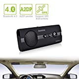 Avantronics Handsfree Bluetooth 4.0 Car Speakerphone Kit with Echo and Noise Cancellation Compatible with Bluetooth 4.0 Enabled Devices such as iPhone 4S/5/5S/5C/6/6 Plus, Blackberry, HTC Desire/One Series/Butterfly 2/S, Huawei, LG, Motorola Moto E/G/Dro