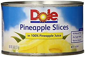 Dole Pineapple Slices in Juice, 8 Ounce Cans (Pack of 12)