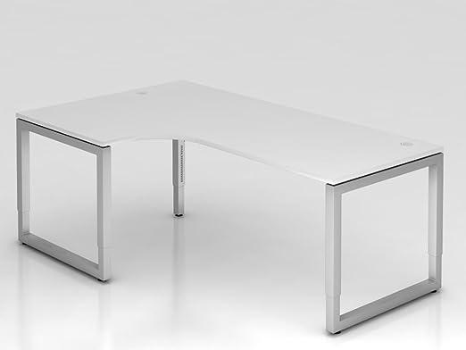 Supporto tavolo o rettangolare, 200x 120cm, gomito 90°, bianco