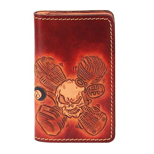 lengren-senior-handmade-short-wallet-carved-with-skeleton-pattern-genuine-italian-full-grain-leather