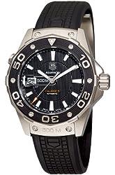 TAG Heuer Men's WAJ2110.FT6015 Aquaracer Calibre 5 Automatic 500M Black Rubber Watch