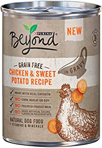 Purina Beyond Wet Dog Food, Grain Free Chicken & Sweet Potato Recipe, 12.5-Ounce Can, Pack of 12
