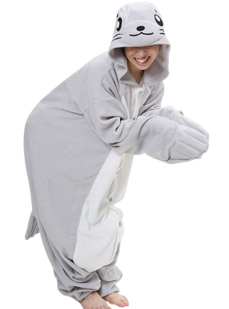 Fleece Kigu Pajamas Adult Costume Animal Pyjamas-Seal