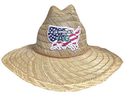 [My Job Depends on Ag Lifeguard Farmer Straw Hat (USA)] (Straw Farmer Hats)