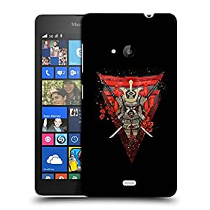 Snoogg Warrior Samurai Designer Protective Back Case Cover For NOKIA LUMIA 535