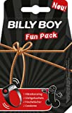 Billy Boy Fun Pack mit 1 Vibrationsring, 2 Passion Fruit Gleitgel-Sachets, 2 Frischetücher Fresh & Fun, 2 Orange-Kondome