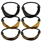 Smile Wig Rope Hair Band Elastic Hair Bands 6pcs/lot Women Lady Celebrity Styling Tool HB1259