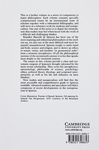 The Cambridge Companion to Spinoza Paperback (Cambridge Companions to Philosophy)