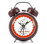 Modern Fashion Lovely Colorful Metal Alarm Clock Brown 941