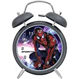 Tops Day Spider-Man children fashion quietly gray alarm clock Best Christmas Gift 15*11*5 cm