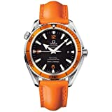 Omega Men's 2908.50.83 Seamaster Planet Ocean XL Automatic Chronometer Orange Strap Watch