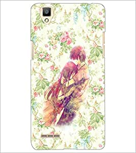 PrintDhaba Couple D-3708 Back Case Cover for OPPO F1 (Multi-Coloured)