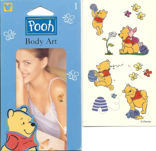 Disney Winnie the Pooh Honey Bee's Body Art Temporary Tattoo - 1