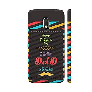 Colorpur Happy Father's Day To The Best Dad In The World Artwork On Motorola Moto G4 Play Cover | Artist: Designer Chennai