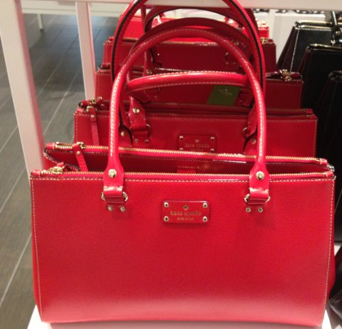 Kate Spade Wellesley Martine Red Leather Purse