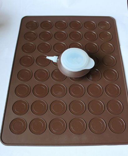 Allforhome Set Of 48 Capacity Macarons Baking Mat And Decorating Flower Tools