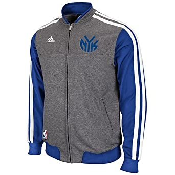 New York Knicks Adidas NBA On-Court Second Half Jacket L by adidas