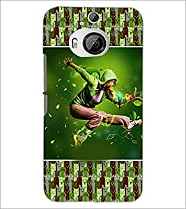 PrintDhaba Dancing Boy D-3626 Back Case Cover for HTC ONE M9 PLUS (Multi-Coloured)