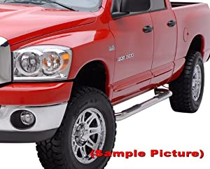 "09-12 Dodge Ram 1500 Quad Cab Stainless Steel 3"" Side Step Nerf Bars Running Boards(2pcs with Mounting Bracket Kit) from MaxMate"