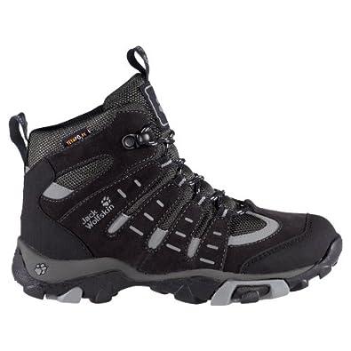 Jack Wolfskin  BOYS RASCAL TEXAPORE, Chaussures de randonnée garçon - Gris - phantom, 30 EU